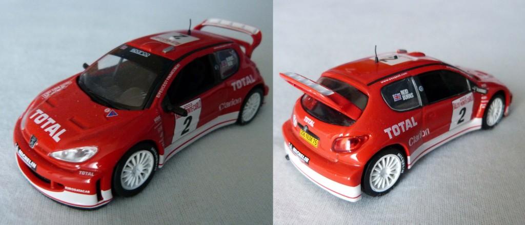 206 WRC rouge