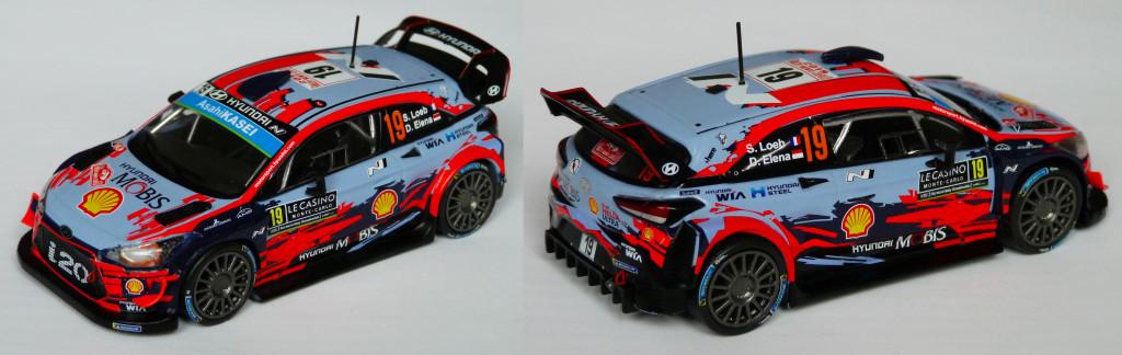 Hyundai i20 wrc Loeb MC 2019